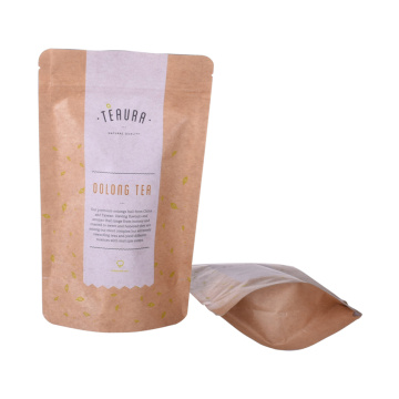 customized food kraft paper bag packaging  food grade with window