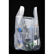 HDPE Transparent Plastic Shopping T Shirt Bag