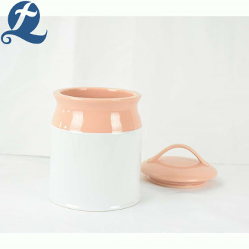 Custom popular trend cute printed ceramic storage tank