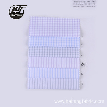 Check Bamboo fabric Strip Fabric Polyester Fabric