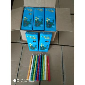 12pcs 24boxes spiral candle to Saudi Arabia