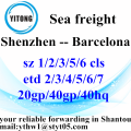 Shenzhen Professional Sea Freight Agent to Barcelona