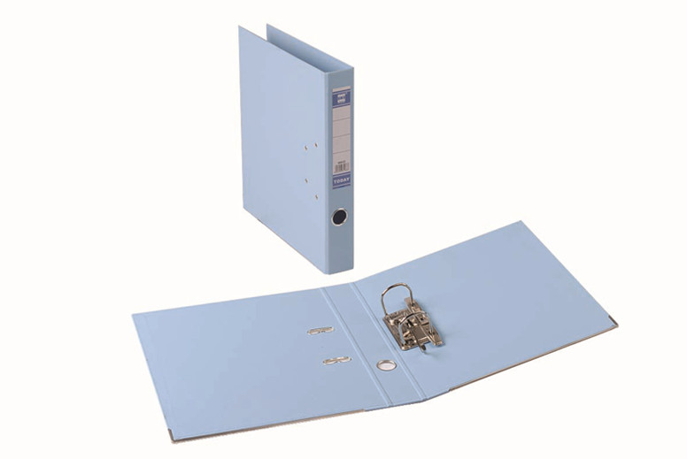 Marble Lever Arch File blue
