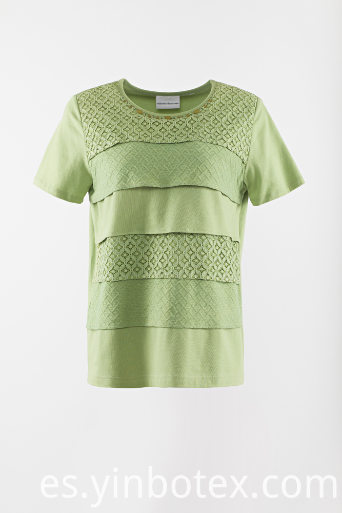 ladies solid knitting Tshirt