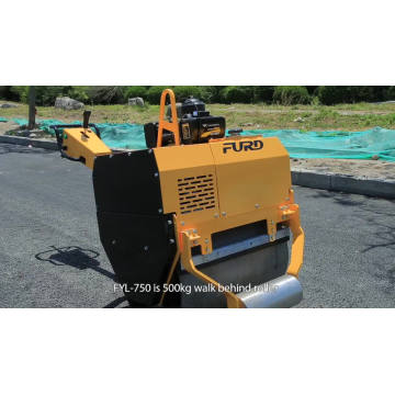 Manual vibrating road roller soil compactor vibratory roller mini asphalt roller for sale  FYL-750
