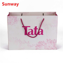 Custom paper carrier bags with twisted handles