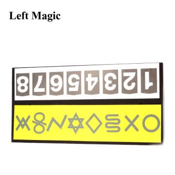 Mental Symbol With ESP Card Magic Tricks Magician Close Up Illusions Accessories Mentalism Gimmick Prediction Board Magic Props