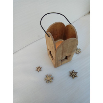 Natural Solid Wood  Candle Holder