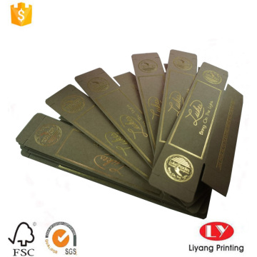 Flat Foldable Sunglasses Box with Gold Stamping Logo