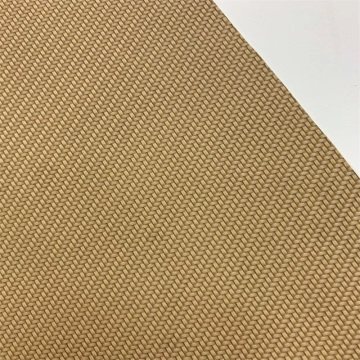 Weave Pattern PU Synthetic Woven Leather for Notebookcover