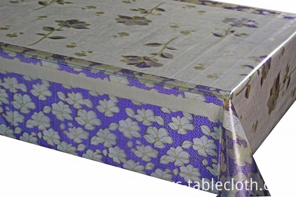 7D Meiwa PVC Embossed Printing Tablecloth