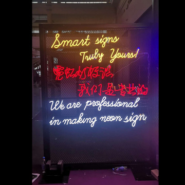 EXHIBITION AD LED NEON ILLUMINATED SIGNAGE