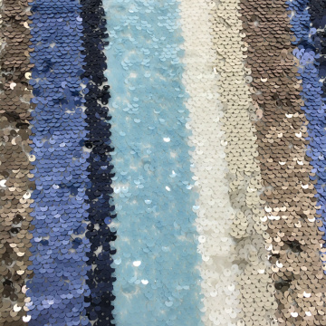 3mm Multicolor Sequin Embroidery Fabric For Summer