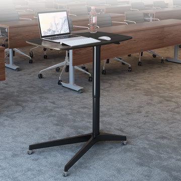 Pneumatic laptop computer tables
