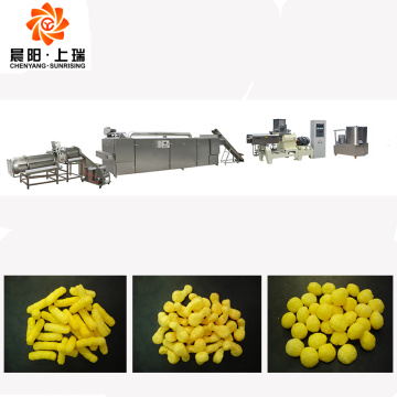 Corn cheese ball rings sticks puffing extruder machine