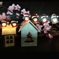 Christmas led fairy light with penguin