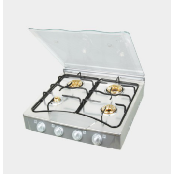 4 Burner Glasstop Gas Cooker with Lid
