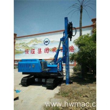 Solar Crawler Hydraulic Photovoltaic Post Pile Driver
