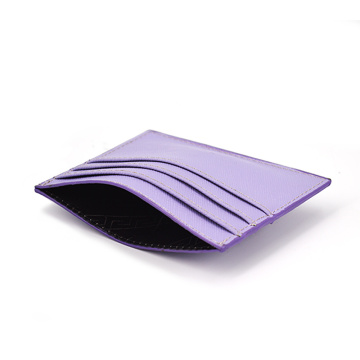 High Quality Pu Saffiano Leather Credit Card Holder