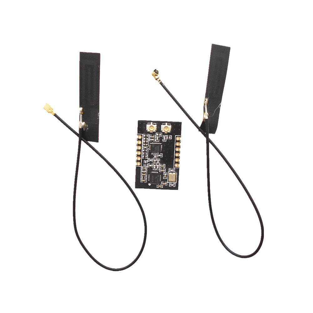 CC2500 PA LNA 2.4G high power long distance dual antenna wireless communication transceiver module serial port module