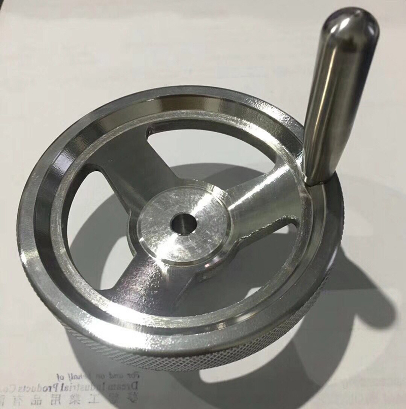 Milling Machine 80mm 100mm 160mm Diameter Ss Hand Wheel With Revolving Handle
