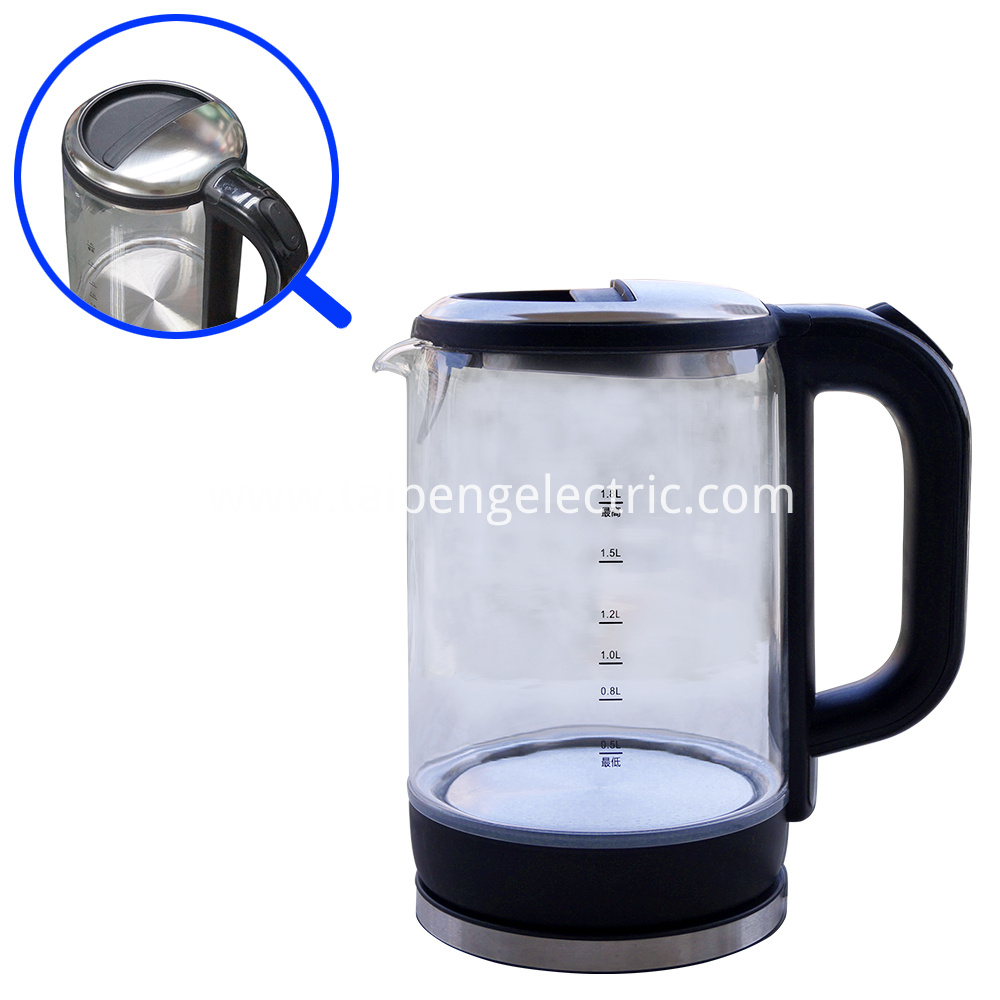 LED Light Glass Kettle
