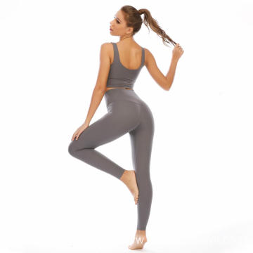 High Waist Yoga Suit With Elastic Sports Suits