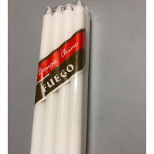 18G WHITE WAX CANDLE STOCK