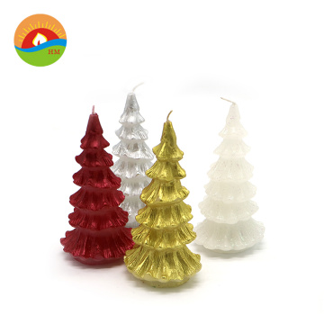 Led real wax decorative christmas cone candles