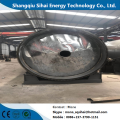 Waste tires recycled to fuel oil pyrolysis equipment