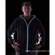 Colorful light up zip hoodie