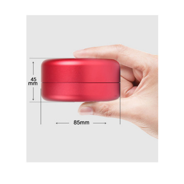 Round Aluminum earphone case with soft rubber lining