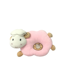 Plush Sheep Baby Pillow Pink