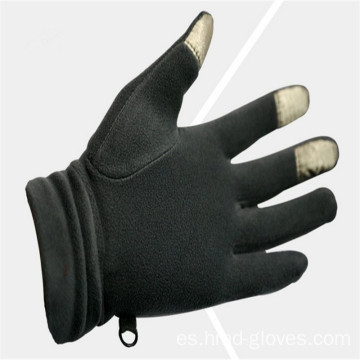 Venta al por mayor de Black Fleece Gloves With Embroidery