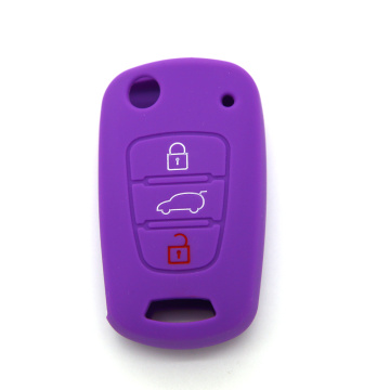 Kia 3 buttons Car Key Cover Silicone