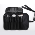 12 pieces black makeup brush with cloth bag