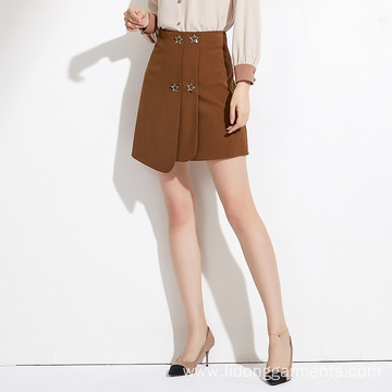 A-line High Waist Short Skirt Women Causal Dress