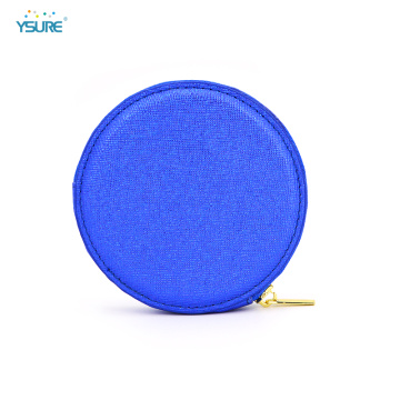 Newest Fashionable Small Round Pu Leather Coin Purse
