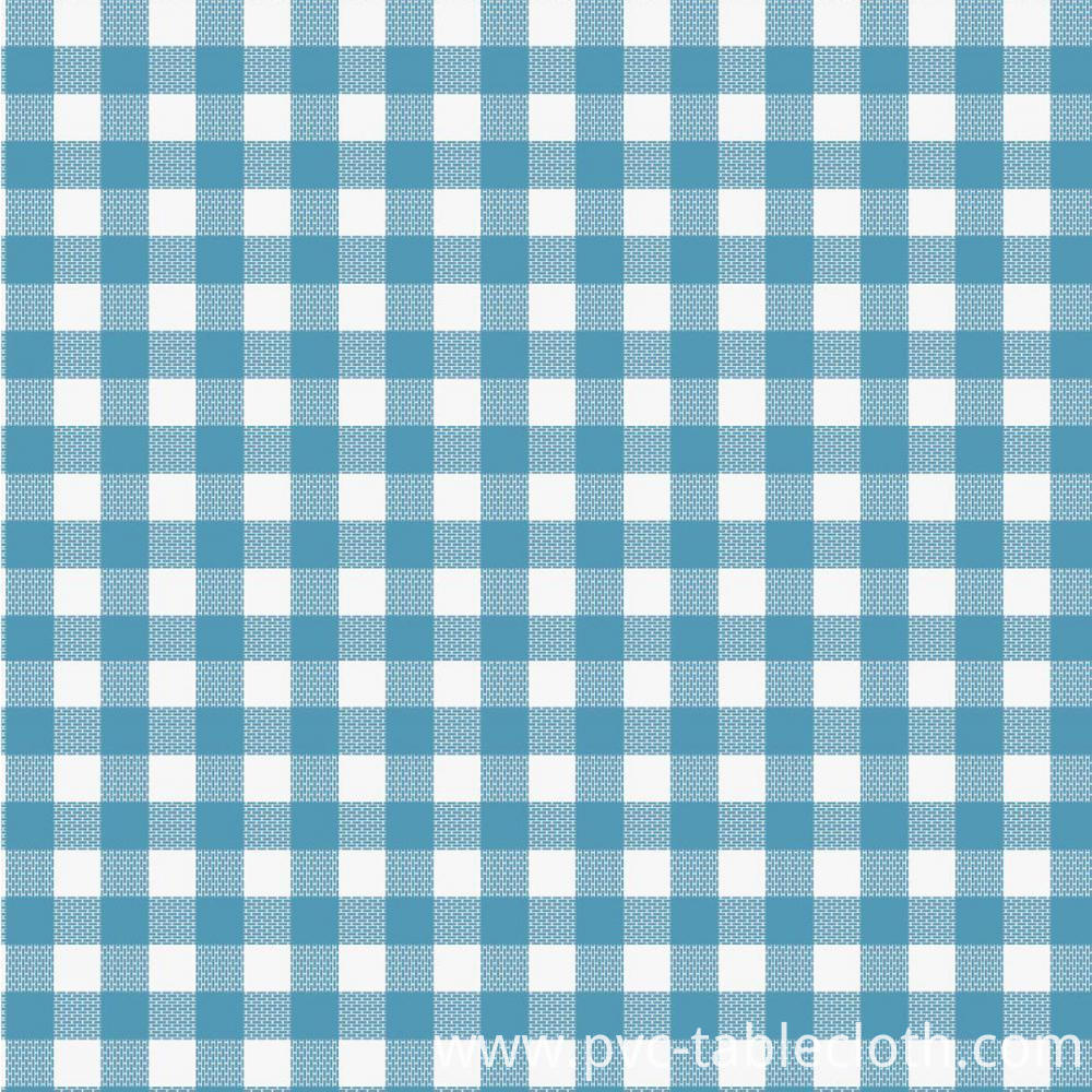 Printed check Tablecloth With Backing