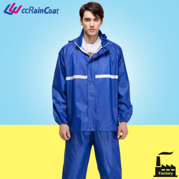 motor double layer rain waterproof jacket with pant polyester Euorpean quality