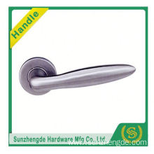 SZD STLH-003 China Manufacturer Curved Lever On Round Rose Stainless Steel Door Handle