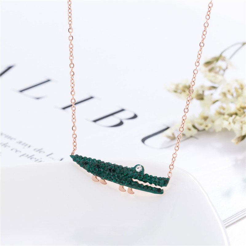 Crocodile Charm Necklace