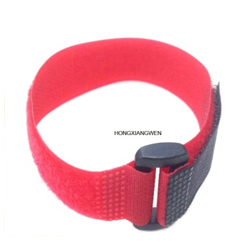 Customized Nylon Hook And Loop Band With Buckle