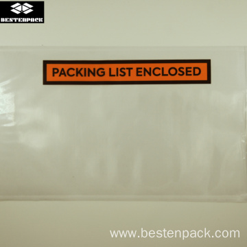 Packing List Envelope 5.5x10 inches Half Printed Orange