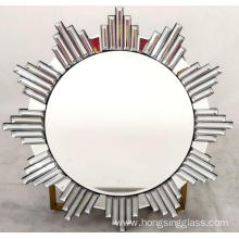 Sun shape clear mirror hanging mirror