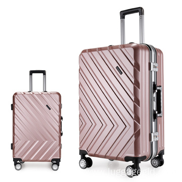 Charming abs pc film trolley luggage case