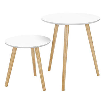 Hot sale wooden round coffee tables simple side table round end table
