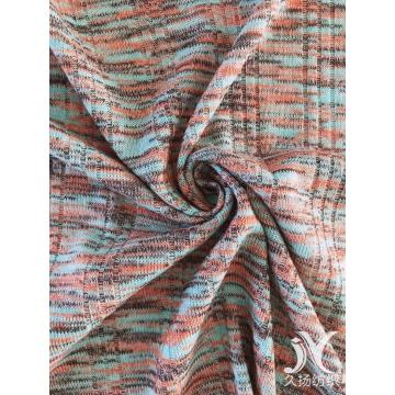 Multicolor Rib Slub Fabric Knit