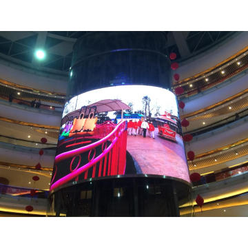 Curved LED display for shopping mall