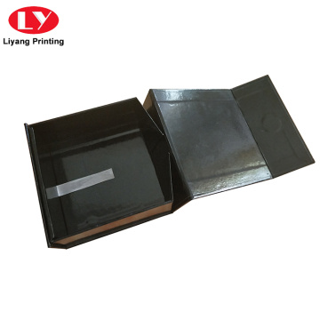 Custom Black Magnetic Folding Gift Box with Lid